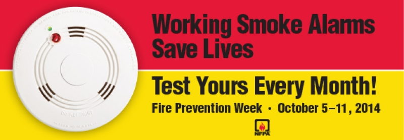 FIRE PREVENTION WEEK NOT TOO FAR AWAY